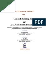 Report on Al-Arafah Islami Bank Limited