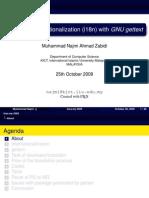 Software Internationalization (i18n) with GNU gettext
