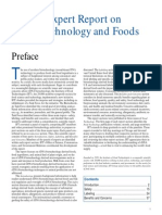 IFT Expert Report on Biotechnology and Foods