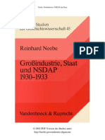 Reinhard Neebe - Großindustrie, Staat und NSDAP 1930-1933