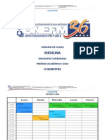 Horario III Semestre I-2014 UNEFM Medicina Carirubana.docx