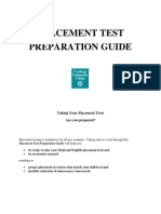 Placement Test Preparation Guide