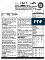 5.14.14 Game Notes vs Tennessee