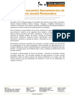 Nota de Prensa JJR en Cartagena