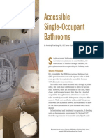 Acessible Single Occupant Bathrooms