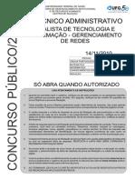 Caderno Analista Tec Inform Gerenciamento Redes2010