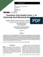 [J14] Mavridis, Anagnostou, Chryssomallis - Microstrip Antenna Q, IEEE APS Magazine, Aug. 2011, 06097329