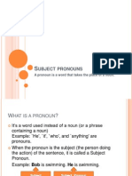 Subject Pronouns PowerPoint notes