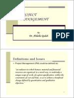 1- Project Management Process Presentation 1