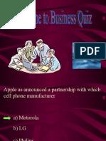 Business quiz MBA 1