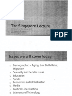 Singapore Lecture
