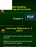 Chapter 6 Book-keeping Balancing Off Accounts