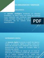 Ventajasa y Desventajas de Inst. Analogico y Digital