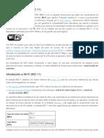 Introducción a Wi-Fi (802)