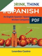 Eat, Drink, Think in Spanish by Lourdes Castro - Excerpt