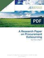 Alsbridge Procurement Sourcing White Paper_2013[1]