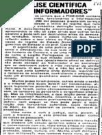 """Análise científica dos """"informadores"""""""