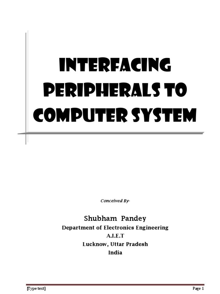 Interfacing Peripherals To Computer System Or Disk Pinout Usb Db9 Diagram Wiring On Hssdc Technology Digital Social Media