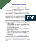 Transferring Windows XP Activation Information