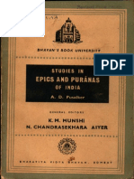 Studies in Epics and Puranas of India - A.D. Pusalker