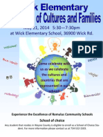 Wick Elementary School Celebration of Cultures and Families 5-21-14