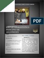 Informe de Laboratorio - Empuje Hidrostático