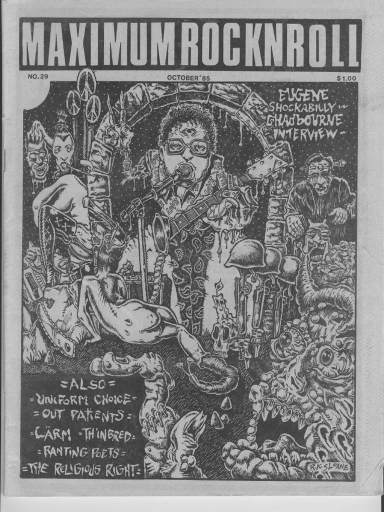 Maximum Rocknroll #29 | Abortion Rights Movements | Famine