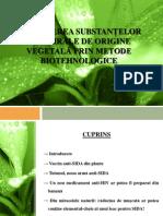 Producerea Substantelor Antivirale de Origine Vegetala Prin Metode Biotehnologice