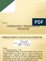 Formulación y Evaluación de Proyectos Clase 4