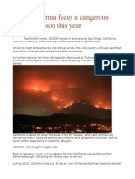 Why California Faces a Dangerous Wildfire Season This Year