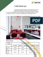 Thiết kế nội thất khách sạn - Nội thất Sao Kim