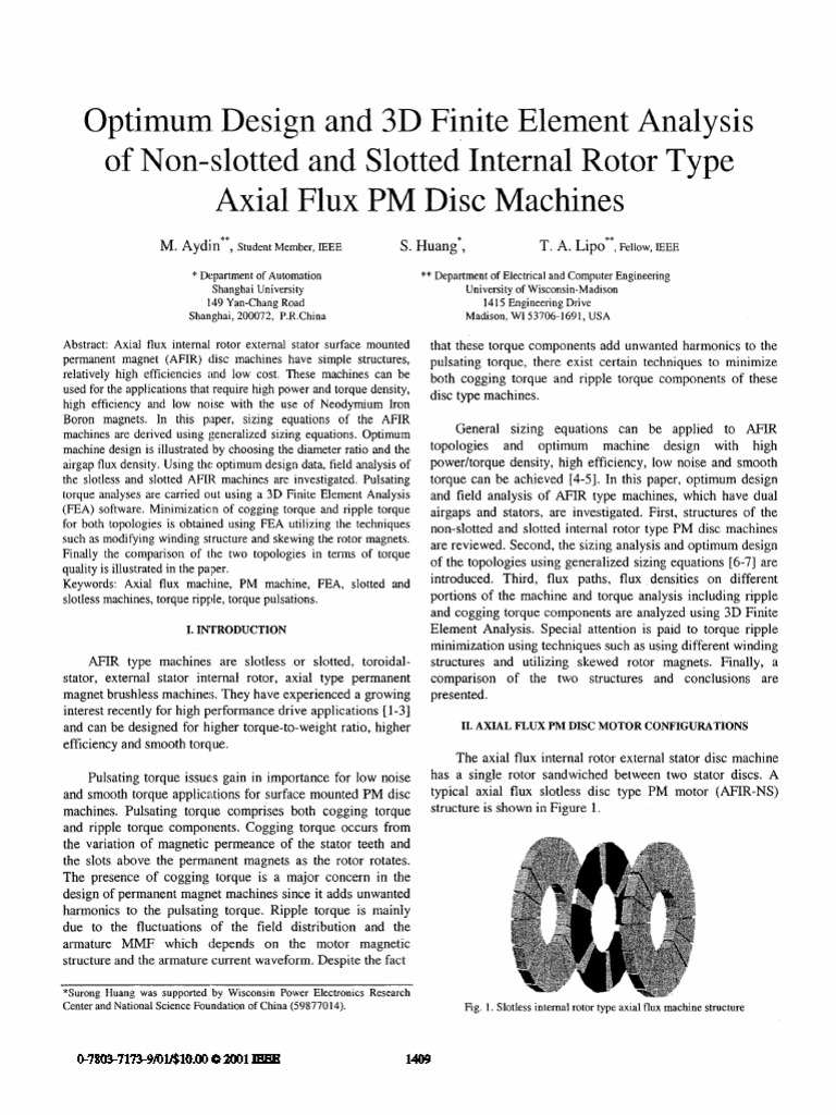Axial Flux PMBLDC Motor design | Electric Motor | Gear