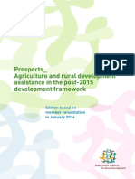 Prospects__ Agriculture and rural development assistance in the post-2015 development framework