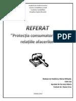 Protecția consumatorului  în relațiile afacerilor