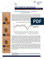 Economic climate index in Latin America, IFO-FGV