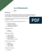 Complicaciones de Rinosinusitis