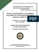 Online Advertising & Hidden Hazards to Consumer Security & Date Privacy