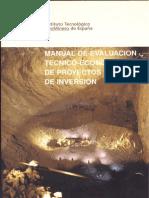 Manual de Evaluacion Tecnico-economico de Proyectos Mineros de Inversion _1