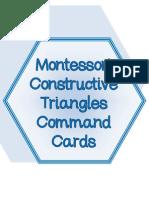 Montessori Constructive Triangle Command Cards