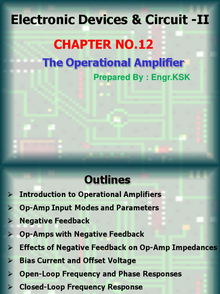 Chapter 12 Electronic Devices And Circuits Ii1final Inverting Amplifier With Class Ab Operational