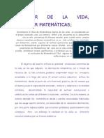 APRENDER DE LA VIDA aprender de las matemáticas