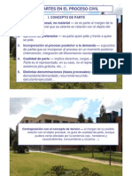 Power Point, Las Partes en El Proceso Civil, PDF.