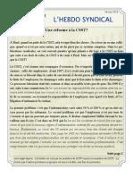 52. l'Hebdo Syndical 14 Mai 2014