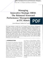 the balanced scorecard performance management system at itc hotels