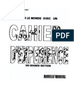 Cahier d'Experience en Grande Section