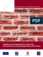 Guidelines for the Implementation of New Tools and Good Practice in the Fight against New Urban Poverty