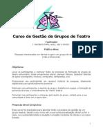 Curso de Gestão de Grupos de Teatro