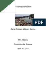 freshwater pollution essay