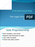 Entrepreneurship - Legal Form of New Ventures