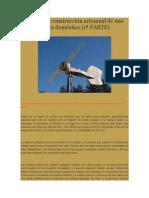 Guía Para La Construcción Artesanal de Una Turbina Eólica Doméstica